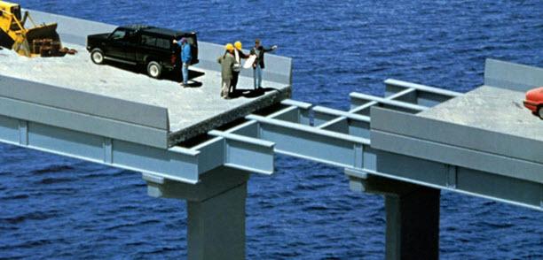 Bridge with gap