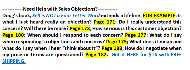 Help with Sales Objections