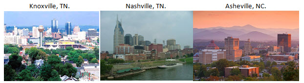 Knoxville TN | Nashville TN | Asheville NC