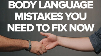 Body Language Mistakes